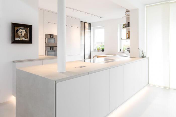 Ecker am Schubertring Küche weiß nach Maß modern Wien